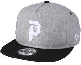 Dirty P Minor League Heather Grey Snapback - Primitive Apparel