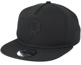 Dirty 6 Panel Black Snapback - Primitive Apparel