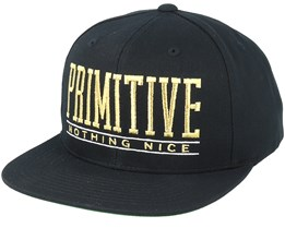 Drop Out Black/Gold Snapback - Primitive Apparel