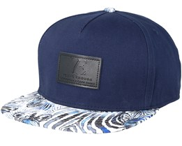 Kids Zebra Blue Snapback - Young Enough