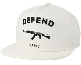 Paris White Snapback - Defend Paris