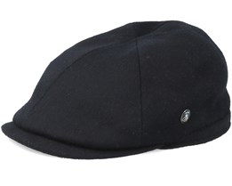 Sixpence Stripe Loden Black Flat Cap - City Sport