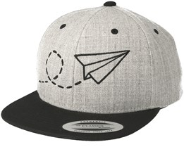 Kids Plane Grey/Black Kids Snapback - Kiddo Cap