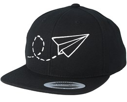 Plane Black/White Kids Snapback - Kiddo Cap