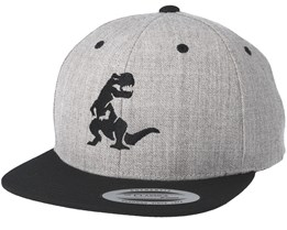Kids Dino Grey/black Kids Snapback - Kiddo Cap