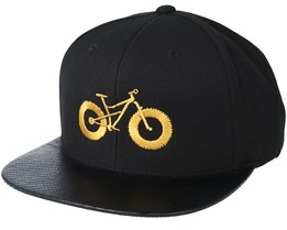 Fat Bike Carbon/Gold Snapback - Bike Souls