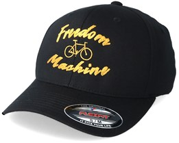 Freedom Machine Black/Gold Flexfit - Bike Souls