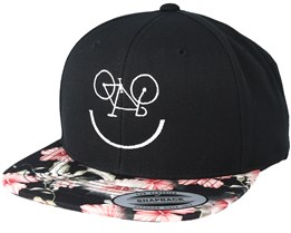 Smile Bike Floral Red Snapback - Bike Souls