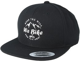 Over The Hills And Far Away Black Snapback - Bike Souls