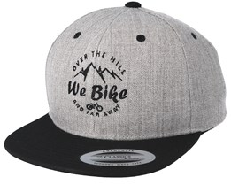 Over The Hills And Far Away Heather Grey Black Snapback - Bike Souls