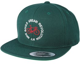 Revolution Circle Spruce Maroon/White Snapback - Bike Souls