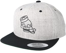 Sailor Skull Heather Grey Black Snapback - Tattoo Collective