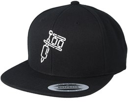Tattoo Machine Black Snapback - Tattoo Collective