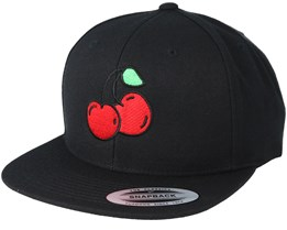 Cherries Black Snapback - Tattoo Collective