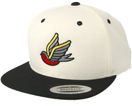 Swallow Black/White Snapback - Tattoo Collective