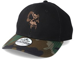 Angry Skull Brown Black/Camo Adjustable - Tattoo Collective