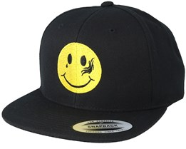 Smiley Tattoo Black Snapback - Tattoo Collective