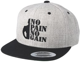 No Pain No Gain Grey/Black Snapback - Berzerk