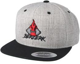 Logo Grey/Black Snapback - Berzerk