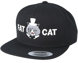 Logo Black Snapback - Fat Cat