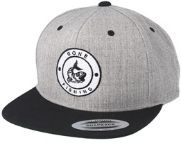 Gone Fishing Grey/Black Snapback - Hunter