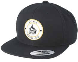Gone Fishing Black Snapback - Hunter