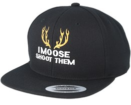 Deer Badge Black Snapback - Hunter