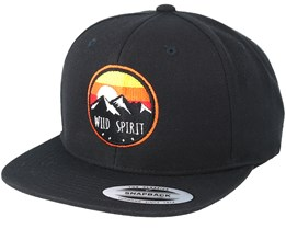 Sunset Logo Black Snapback - Wild Spirit