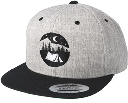Tent Logo Grey/Black Snapback - Wild Spirit