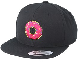 Donut Time Black Snapback - BOOM