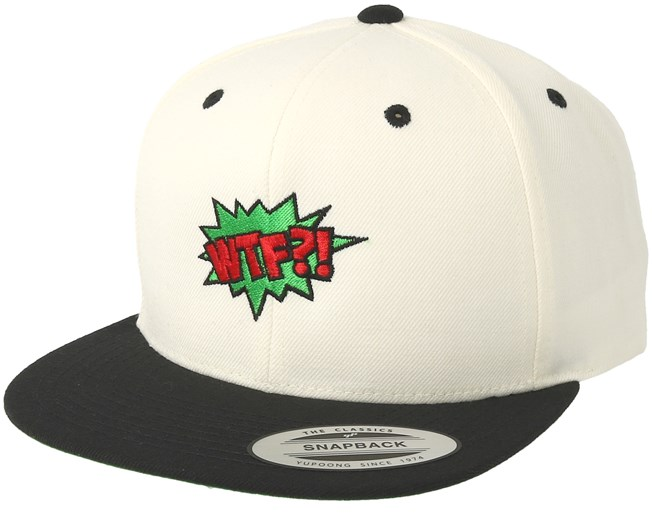 Wtf Is Going On White Black Snapback Boom