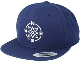 Compass Navy/White Snapback - Jack Anchor