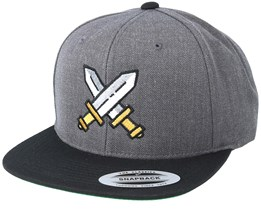 Swords Heather Charcoal/Black Snapback - Vikings