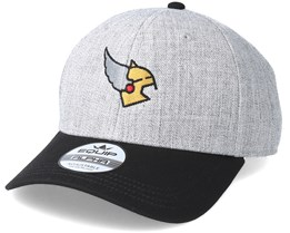 Thors Helmet Heather Grey Black Adjustable - Vikings