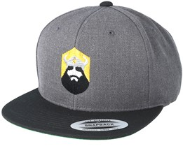 North Shield Charcoal/Black Snapback - Vikings