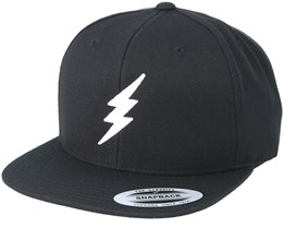 Bolt Black/White Snapback - Rave
