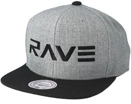 Brand Heather Grey/Black Snapback - Rave