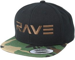 Brand Brown Black/Camo Snapback - Rave