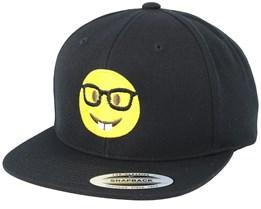 Emoji Nerd Black Snapback - Iconic