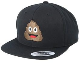 Emoji Poo Black Snapback - Iconic