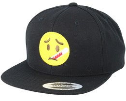 Emoji Sick Black Snapback - Iconic