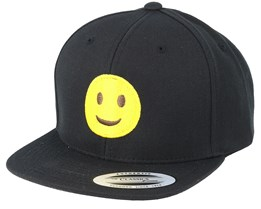 Kids Emoji Happy Black Snapback - Iconic