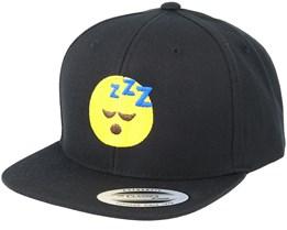 Kids Emoji Sleeping Black Snapback - Iconic