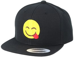 Kids Emoji Tongue Black Snapback - Iconic