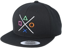 Buttons Black Snapback - Gamerz