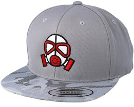Gas Mask Silver/Camo Snapback - Gamerz