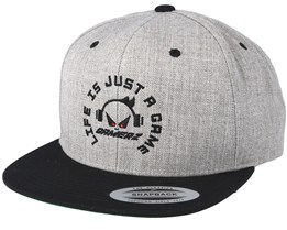 Life Is Just A Game Grey/Black Snapback - Gamerz