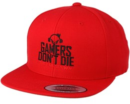 Gamers Don't Die Red Snapback - Gamerz
