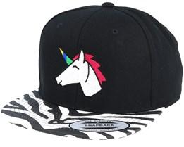 Unicorn Black Zebra Snapback - Unicorns