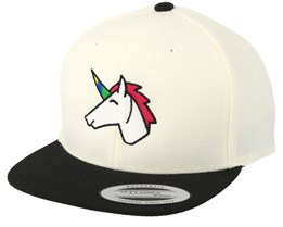 Kids Unicorn White/Black Snapback - Unicorns